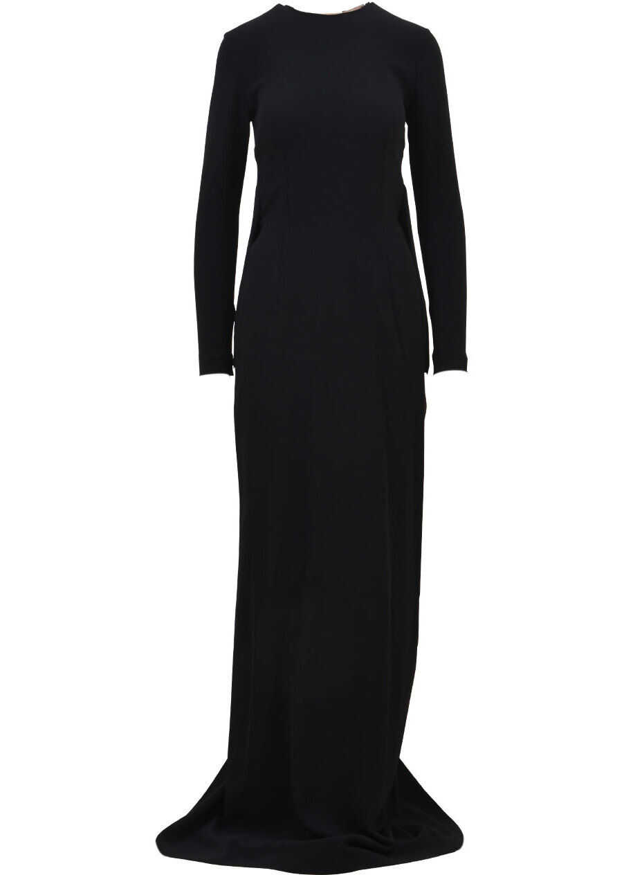 Stella McCartney Long Fringed Dress 479130 SCA06 Black image0