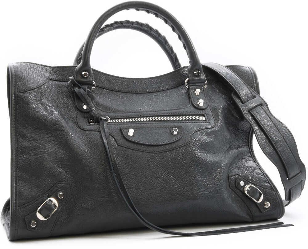 Balenciaga Classic Silver City Bag Grey