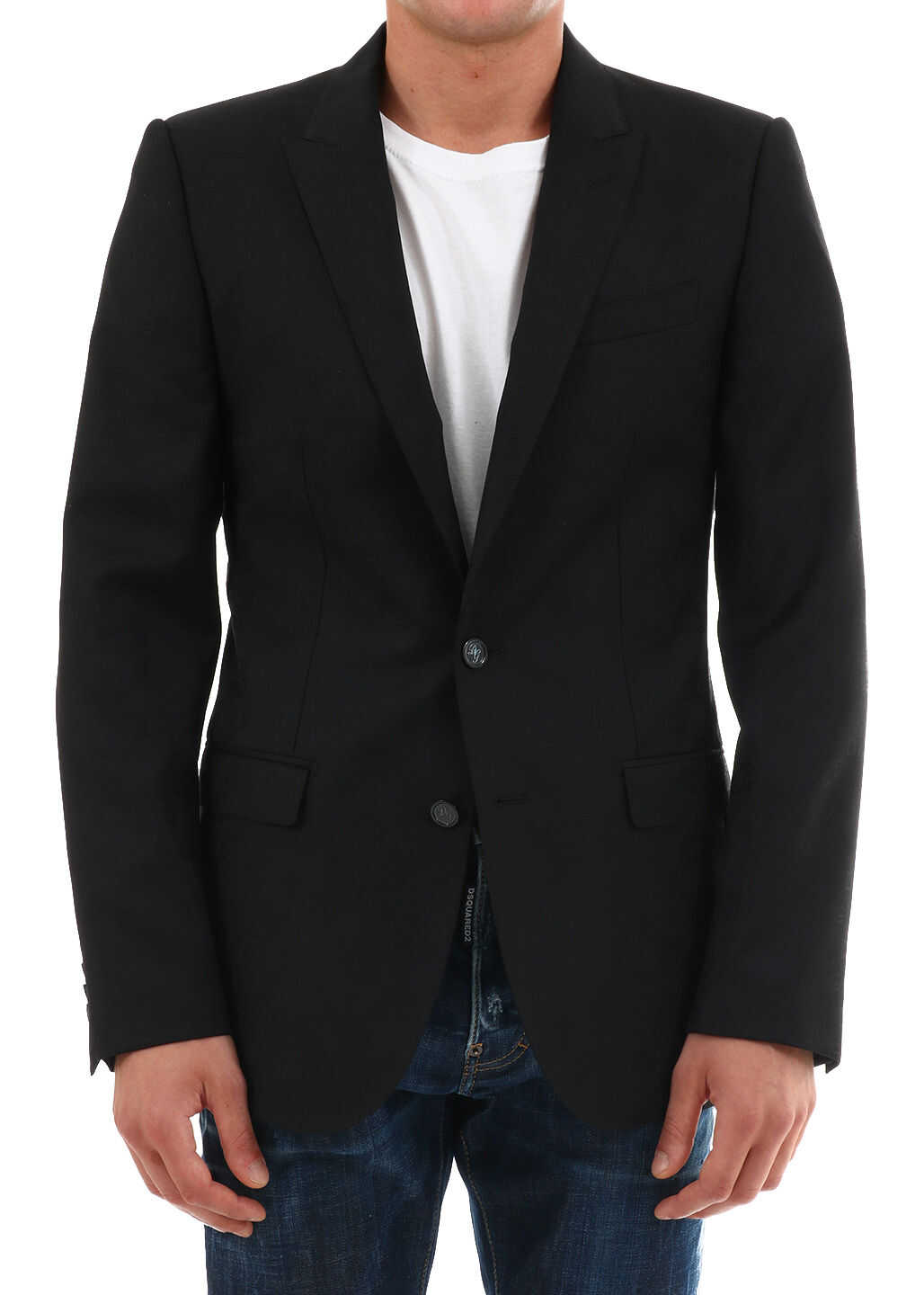 Dolce & Gabbana Wool Jacket Black imagine