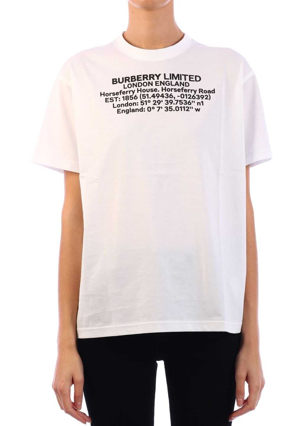 Burberry T-Shirt Geographic Coordinates White