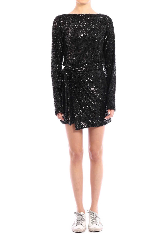 Saint Laurent Sequins Dress Black