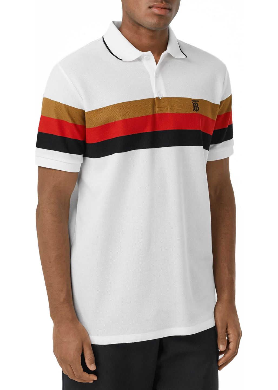 Burberry Cotton Polo Shirt White