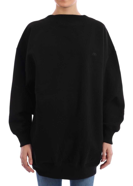Balenciaga Wide Neck Sweatshirt In Black