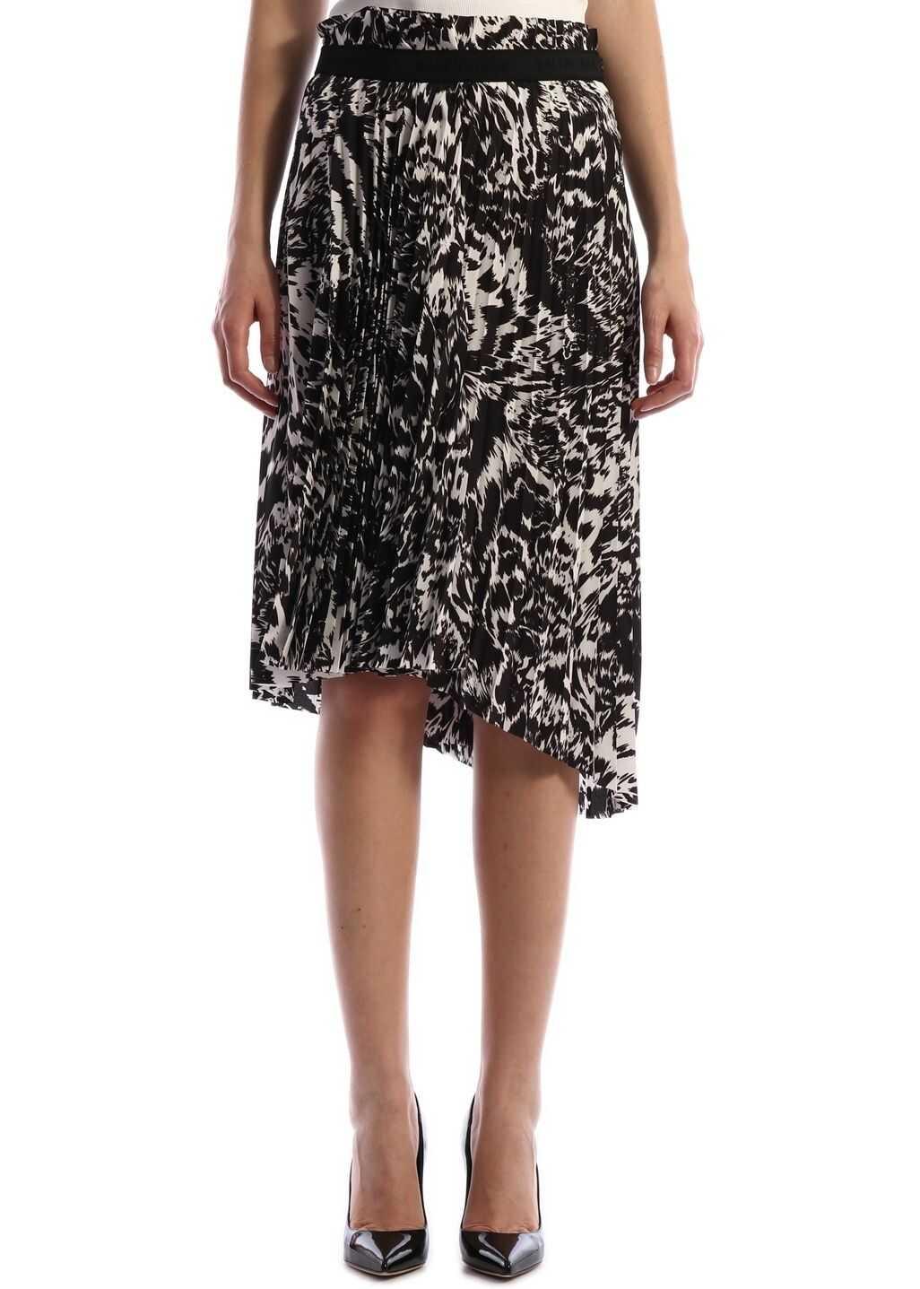 Balenciaga Plissè Skirt Zebra Print Black