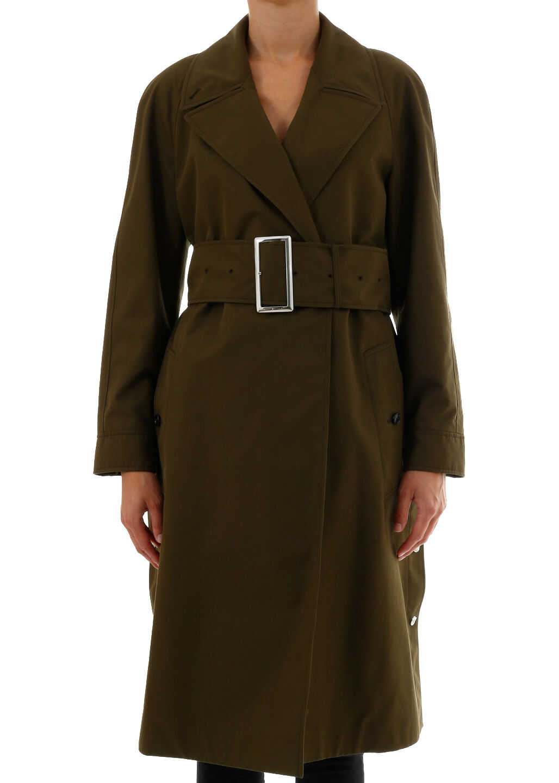 Burberry Gabardine Coat Green