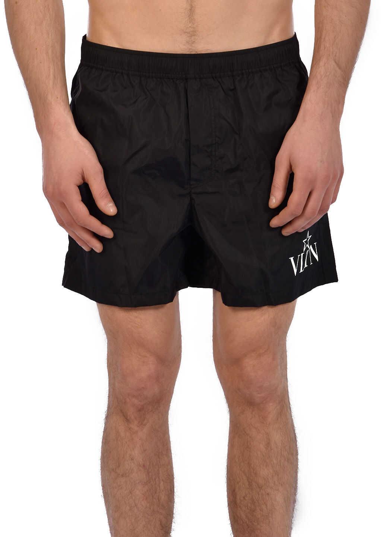 Valentino Garavani Swim Shorts Vltn Star Black