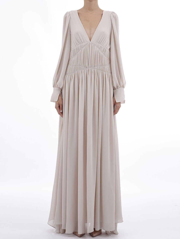 adidas by Stella McCartney Long Dress With Drapery White
