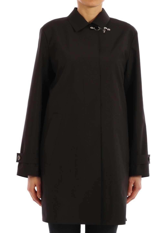 Fay Technical Trench Coat Black