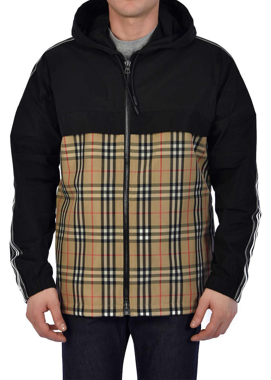 Burberry Hooded Jacket Vintage Check Beige