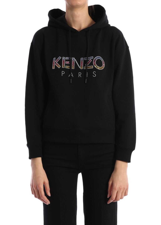 Kenzo Sweatshirt Logo Sequins Black