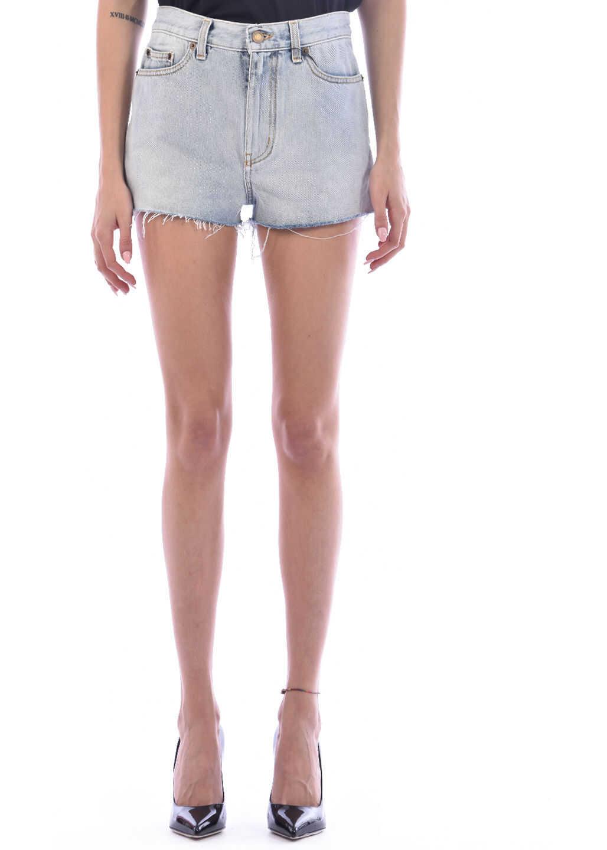 Saint Laurent Denim Shorts Light blue