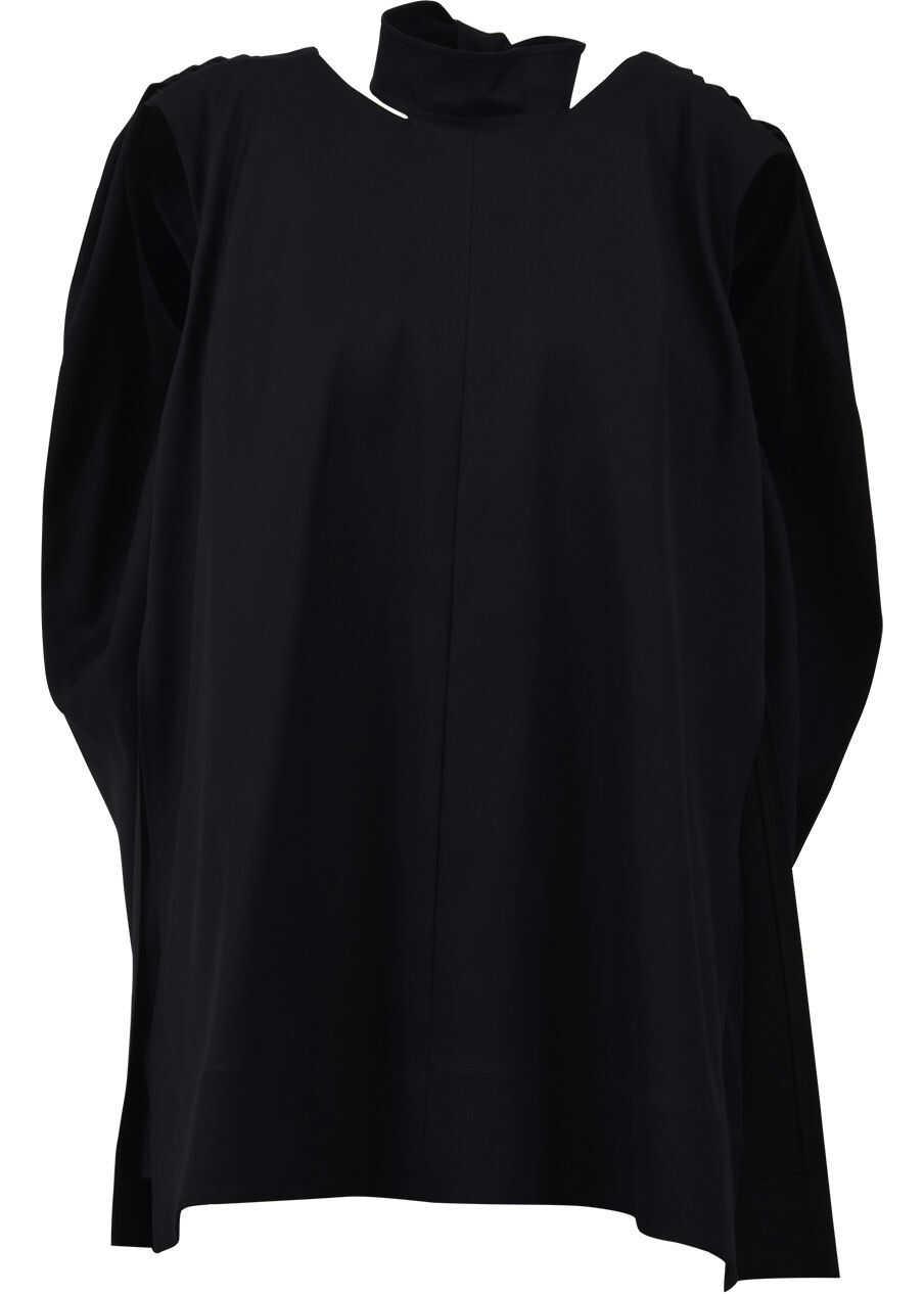 Céline Cotton And Wool Top Black