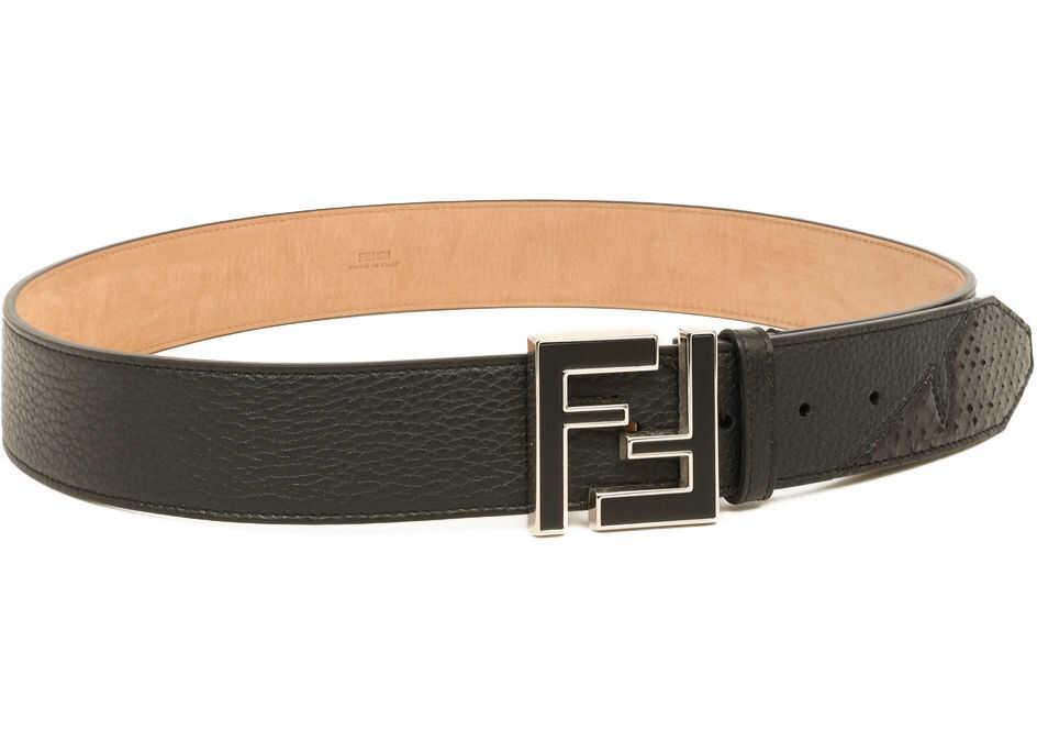 Fendi Ff Leather Belt Black