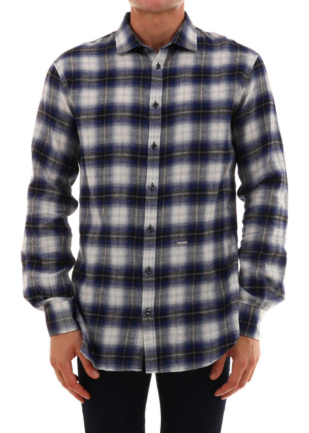 DSQUARED2 Check Shirt Blue