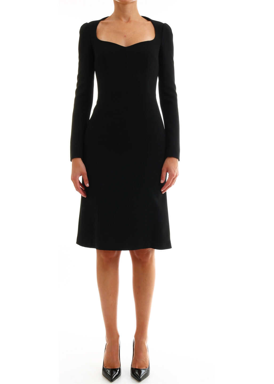 Dolce & Gabbana Dress In Cady F6E7QT FURDV Black image0