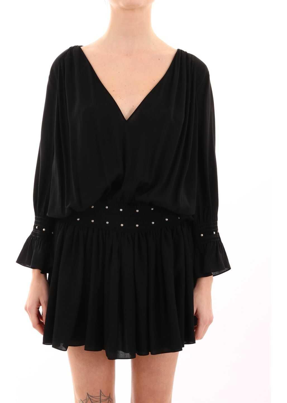 Saint Laurent Dress With Studs Black