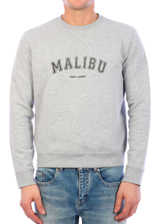 Saint Laurent Malibu Sweatshirt Grey imagine