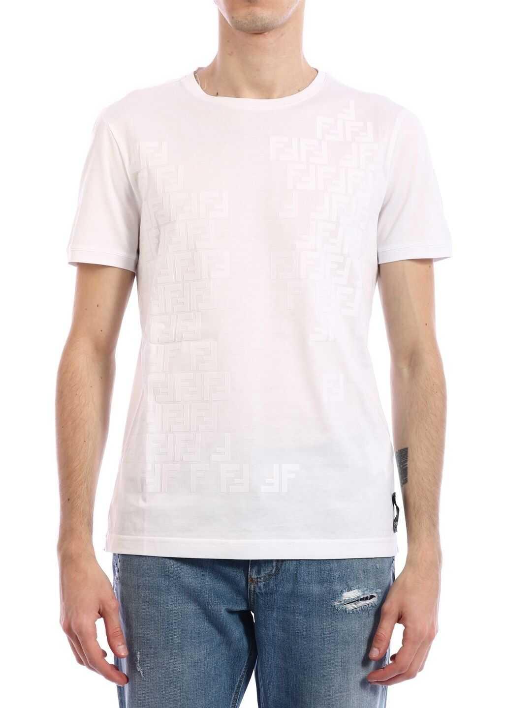 Fendi T-Shirt Logo White