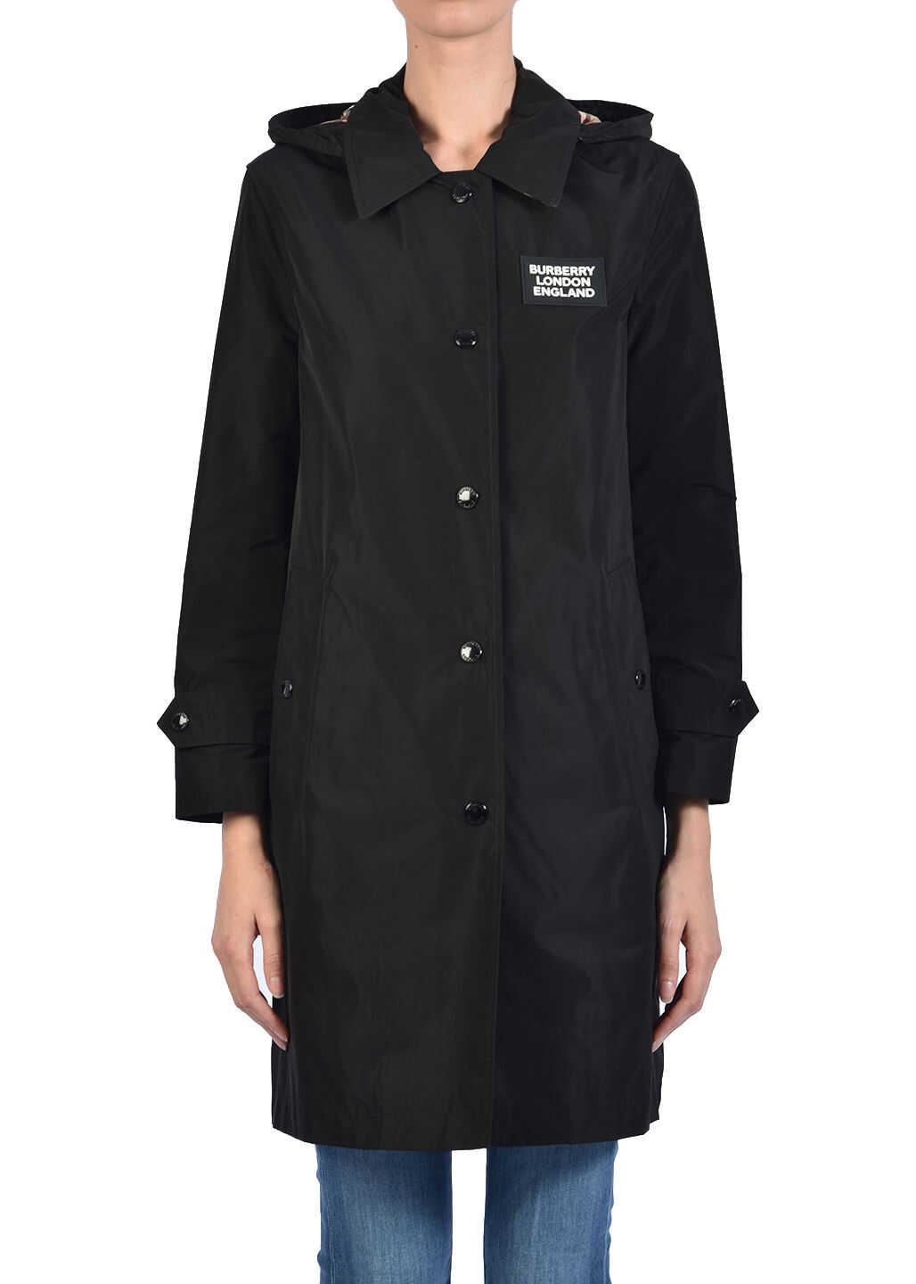 Burberry Taffeta Car Coat Nero Black