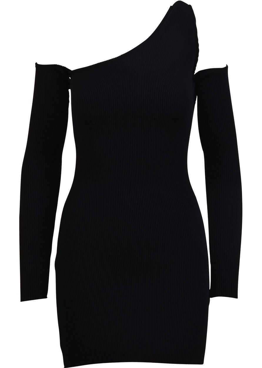AMIRI Off-Shoulder Mini Dress Black