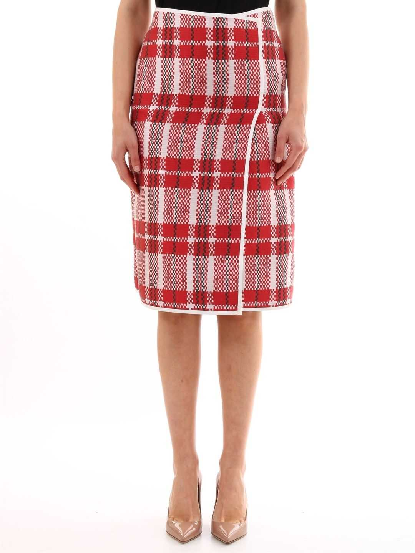 Céline Pencil Skirt Red