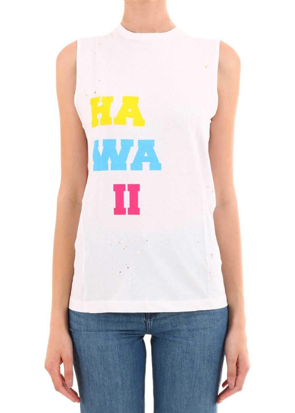 DSQUARED2 Hawaii Cotton Top White