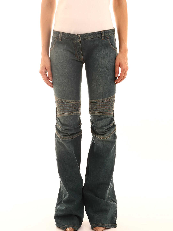 Balmain Bell-Bottom Jeans Blue