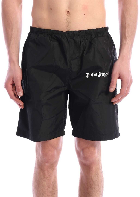 Palm Angels Swimsuit Logo Black