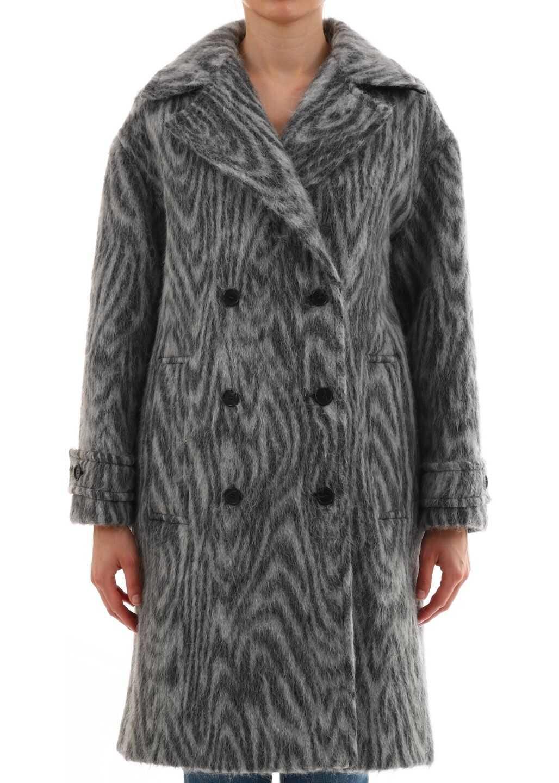 Kenzo Coats White/Black Grey