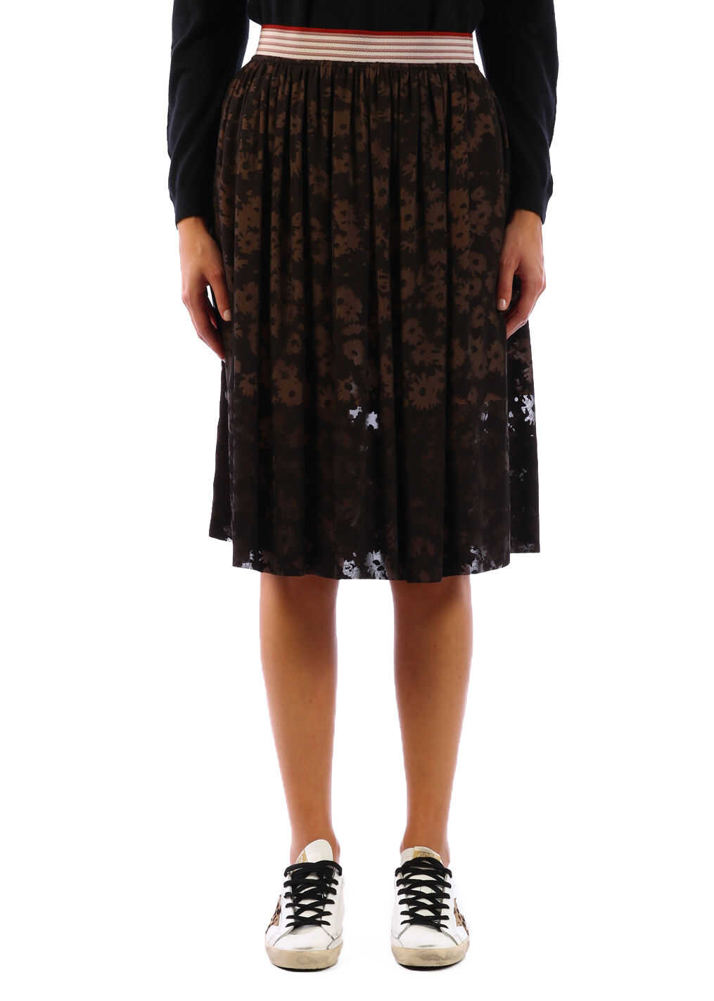 adidas by Stella McCartney Flowered Skirt Black