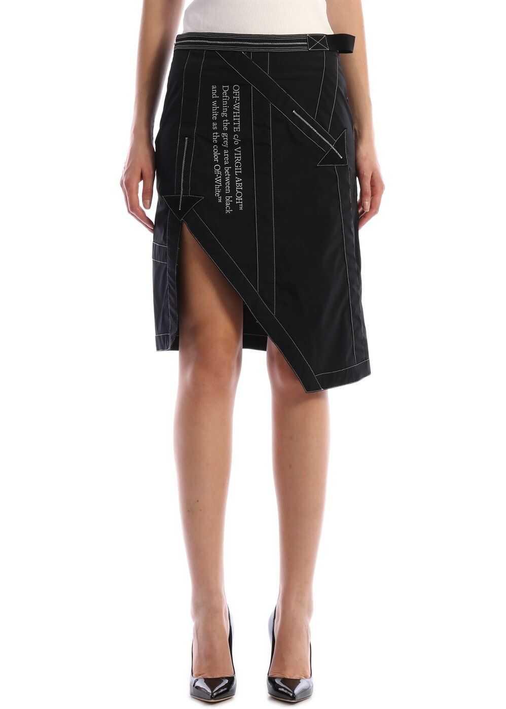 Off-White Nylon Skirt Black