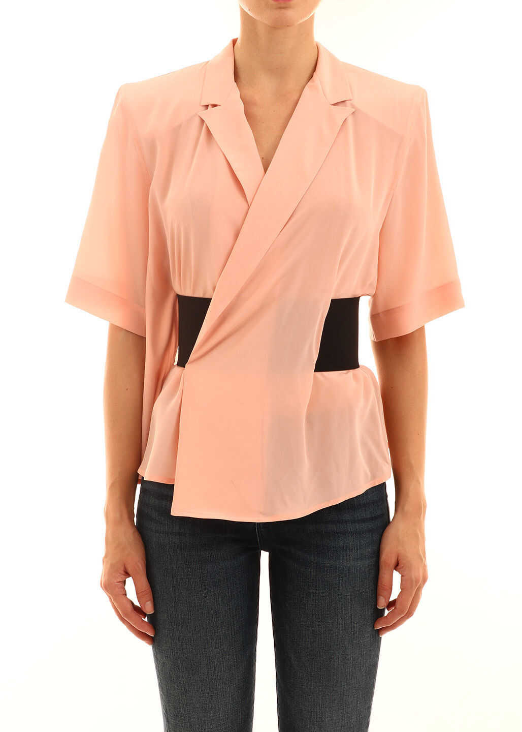 Balenciaga Shirt With Belt Pink