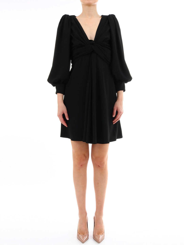 Céline Wrap Dress Black