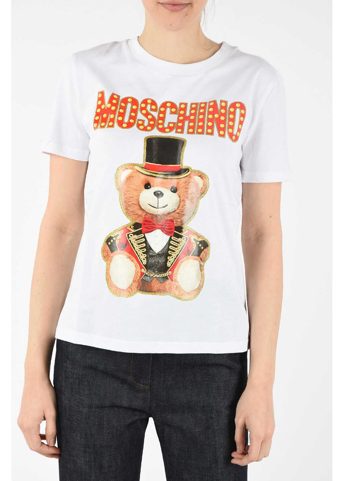 Moschino COUTURE! t-shirt with print WHITE