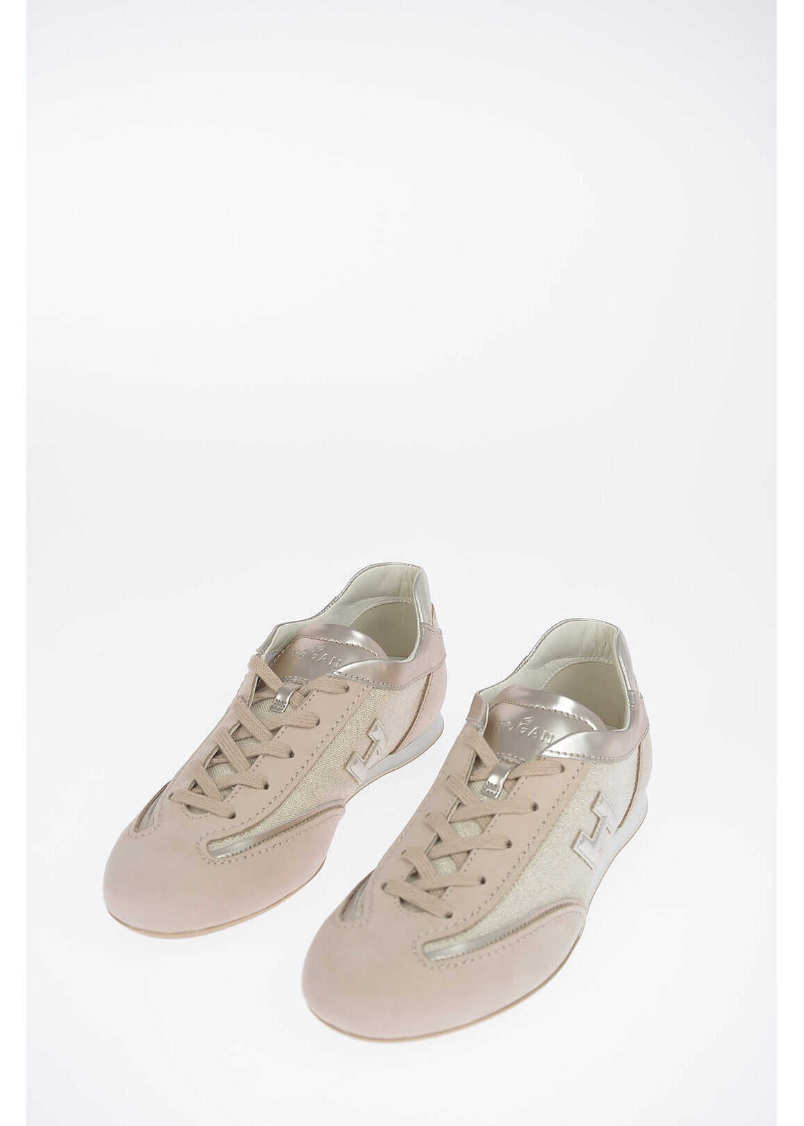 Hogan Fabric and Leather OLYMPIA Sneakers BEIGE
