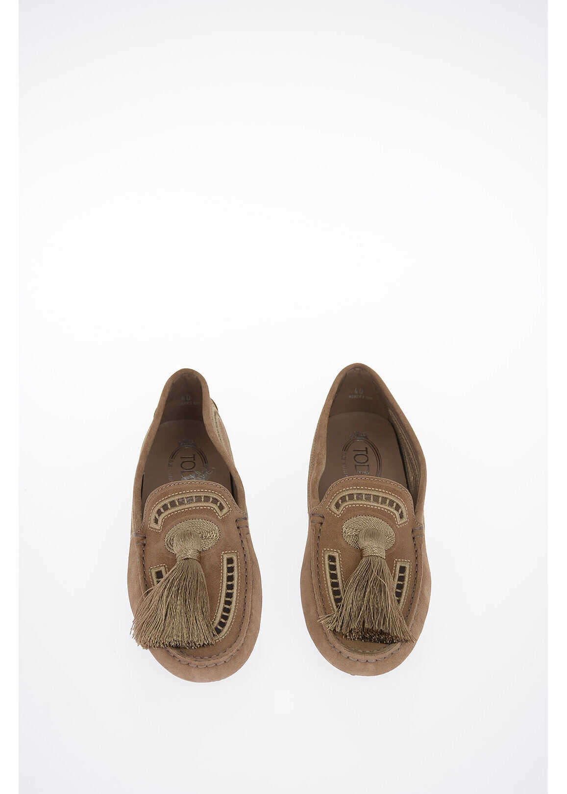 TOD'S Suede Leather Loafer BROWN