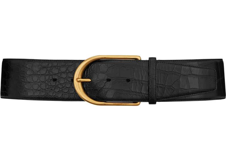 Saint Laurent Corset Belt Black
