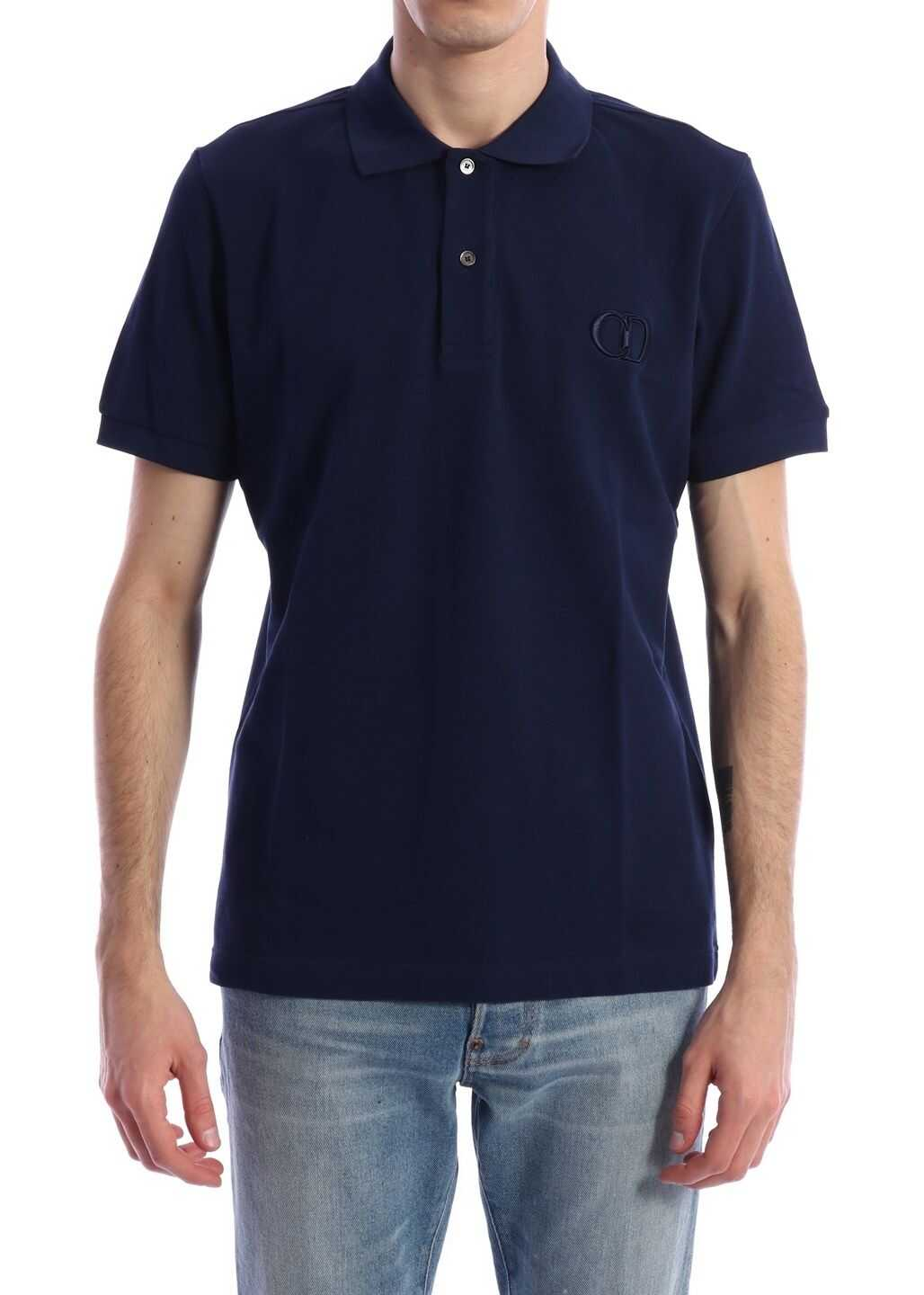 Dior Cd Icon Polo Shirt Blue