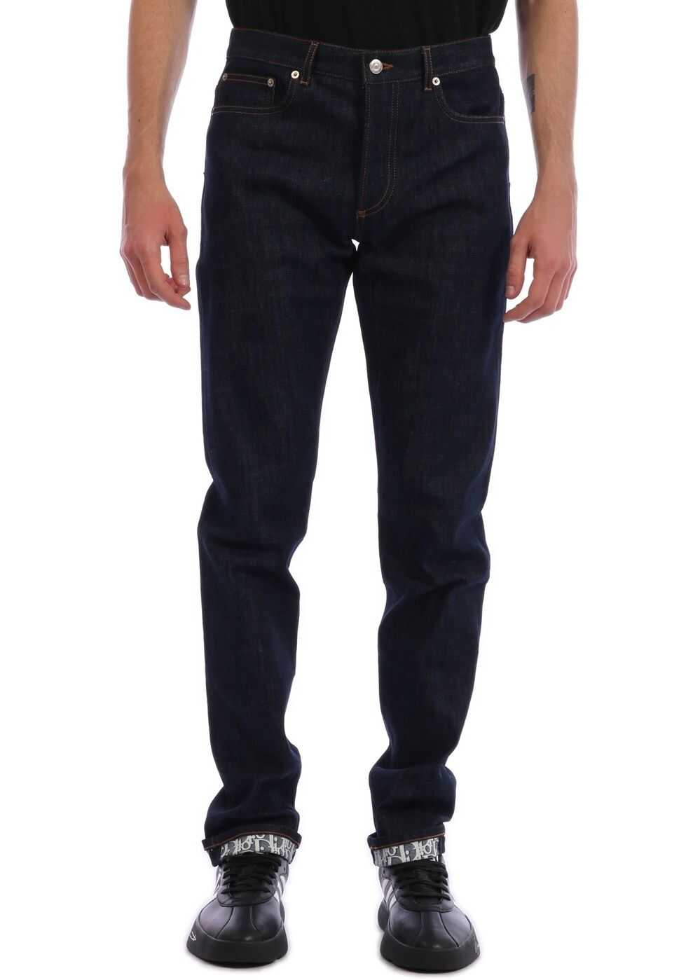 Dior Slim Jeans Raw Denim Blue