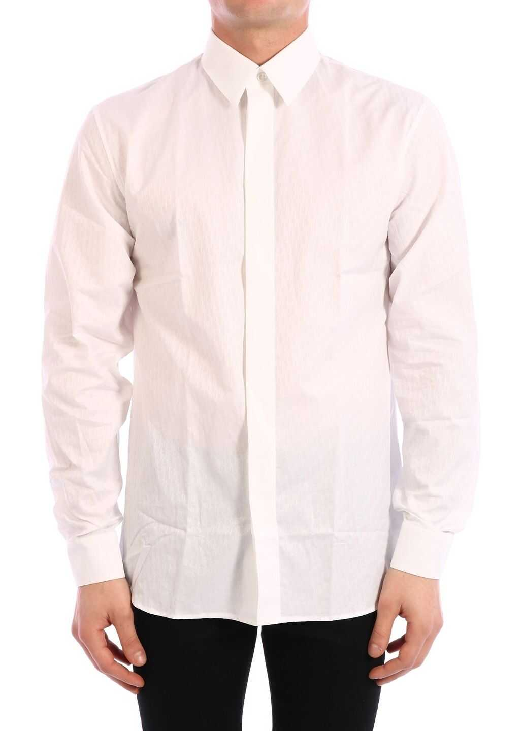 Dior Shirt In Cotton Jacquard White
