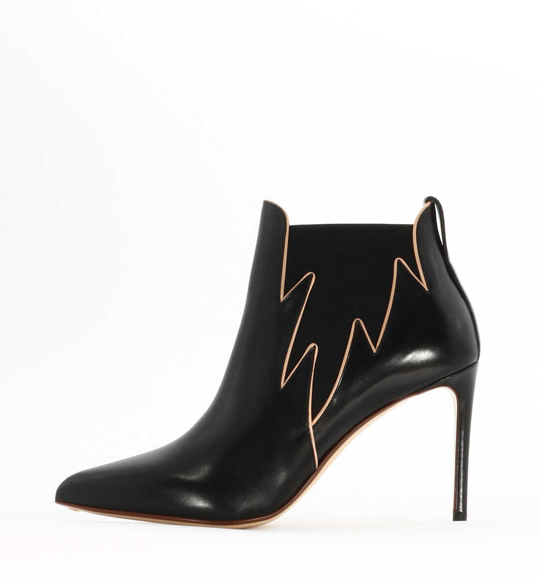 Francesco Russo Flame Ankle Boot Black