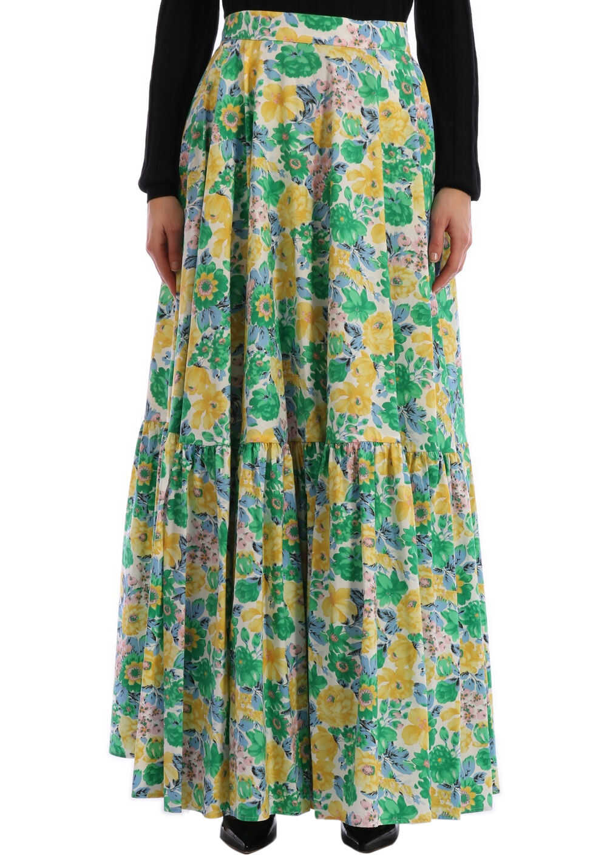 Plan C Floral Skirt Multicolor