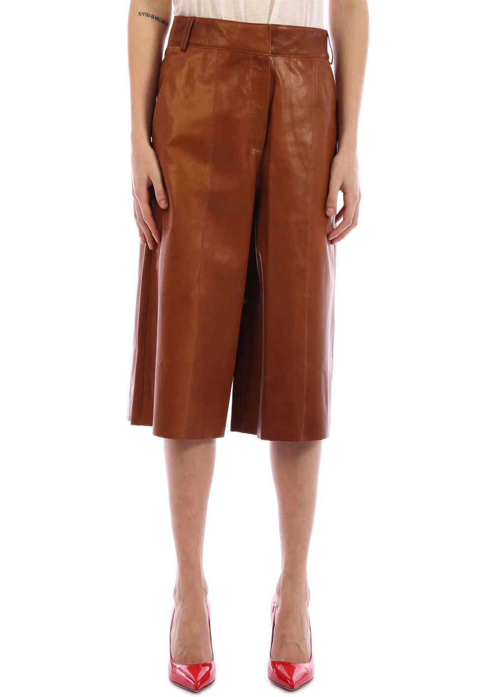 ARMA Leather Trousers Tan Brown