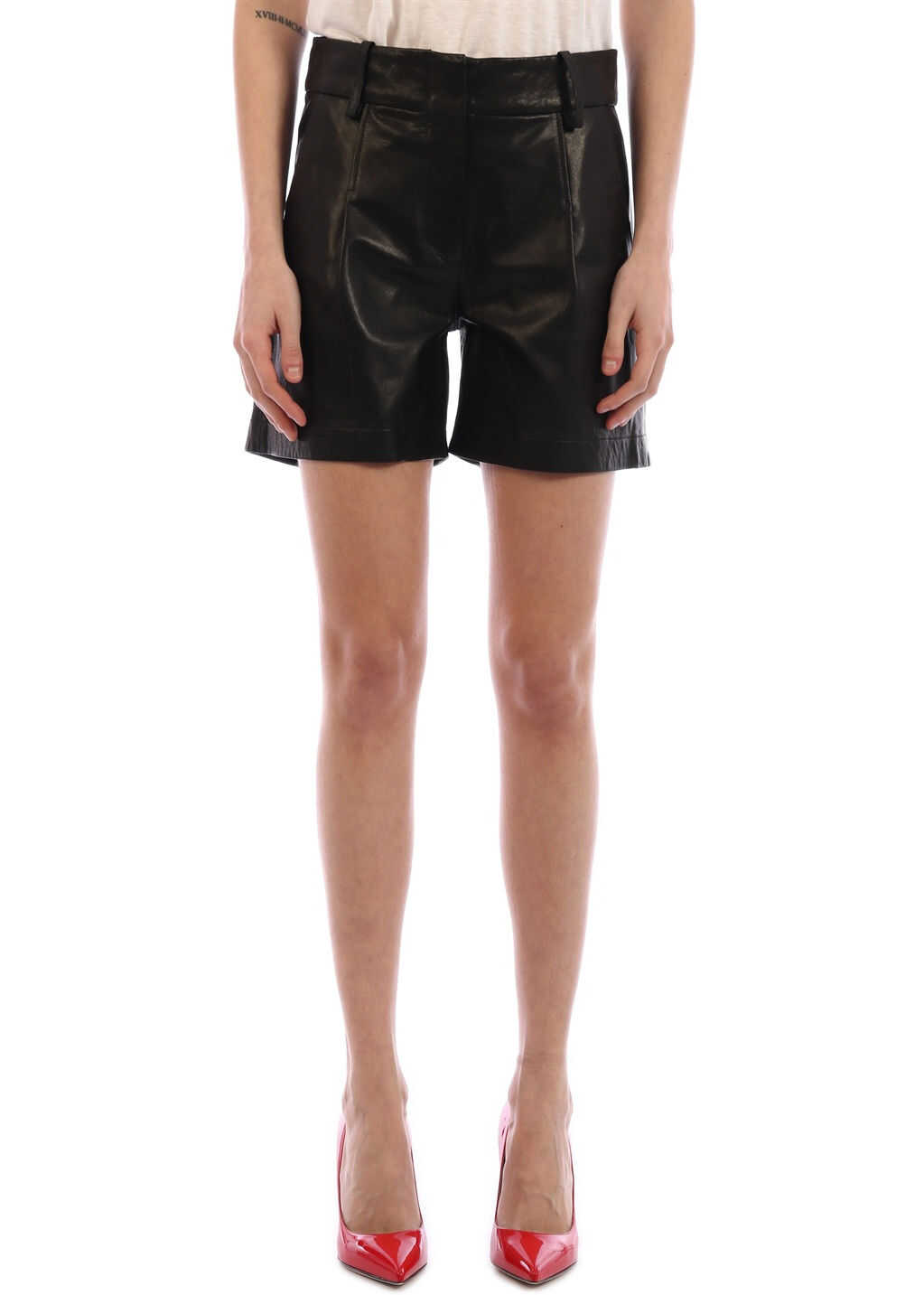 ARMA Leather Shorts Black