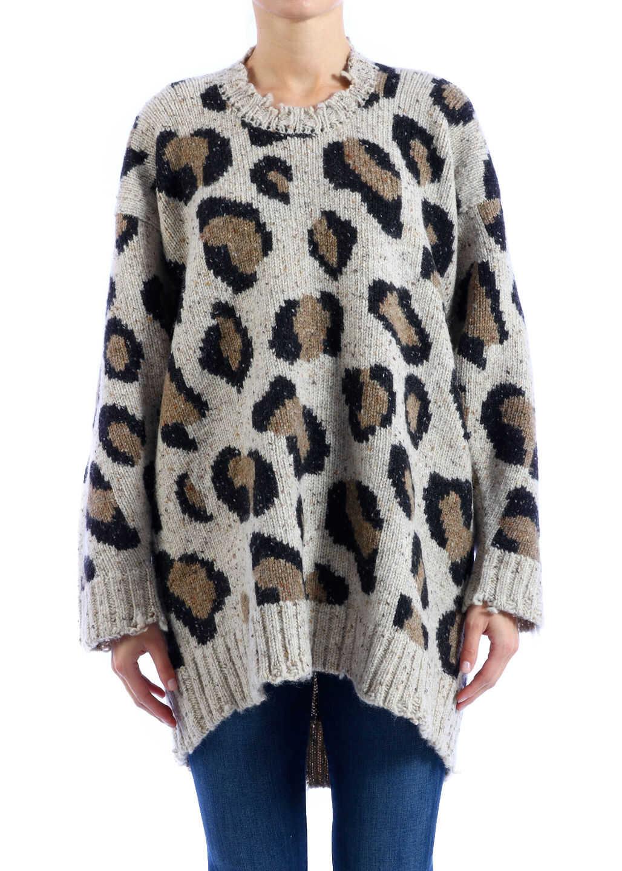 R13 Oversized Sweater Leo Beige