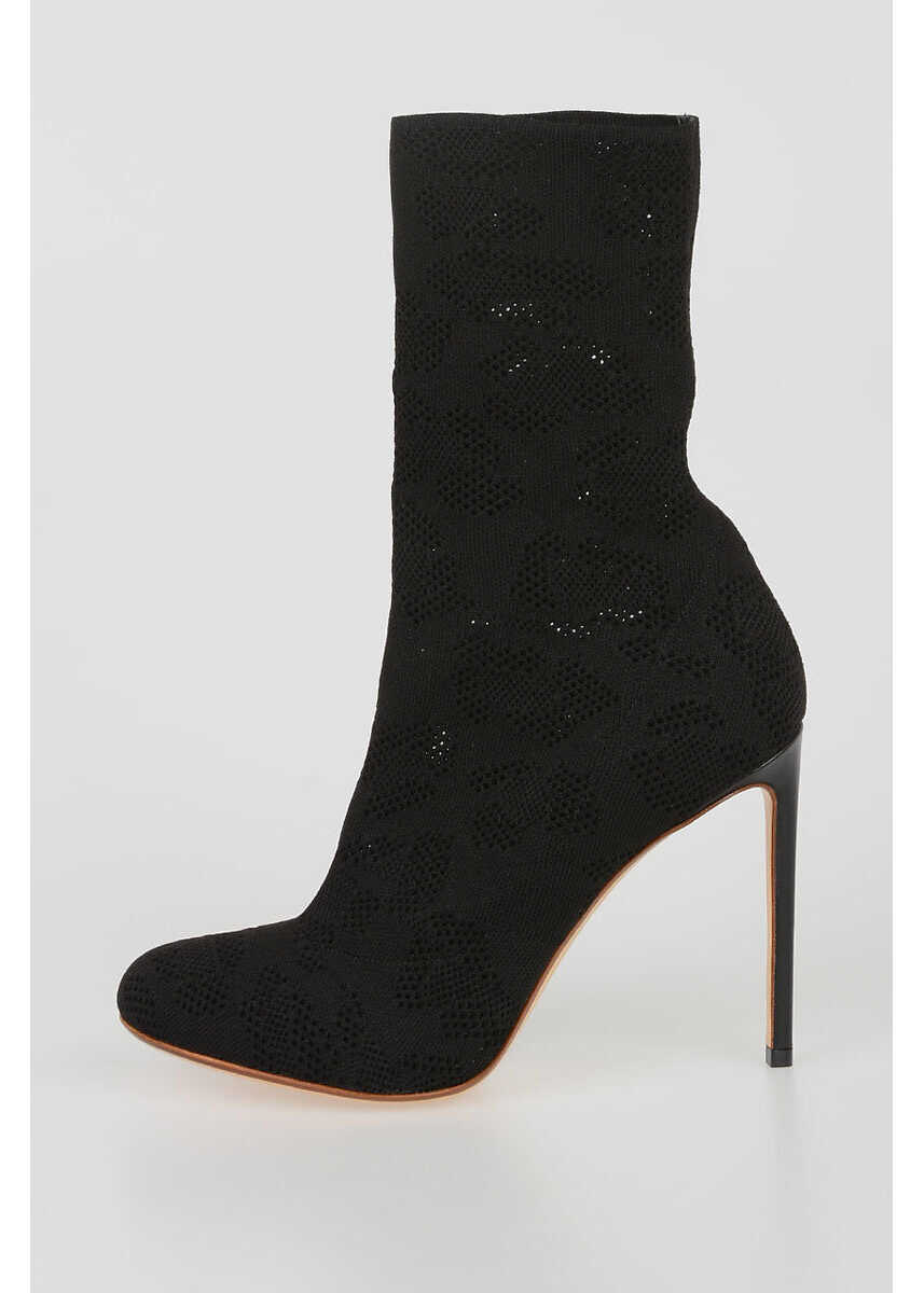 Francesco Russo Stretchy Sock Boots 11.5 CM BLACK