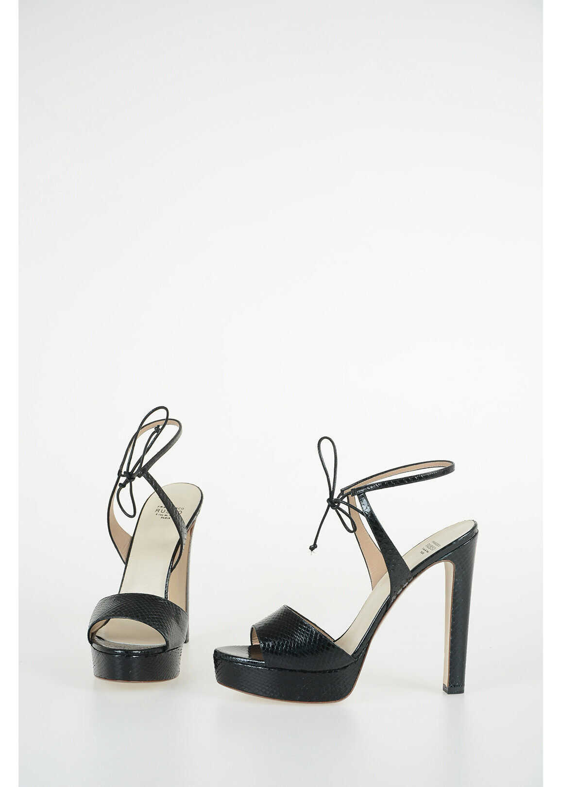 Francesco Russo 14cm Ayers Sandals BLACK