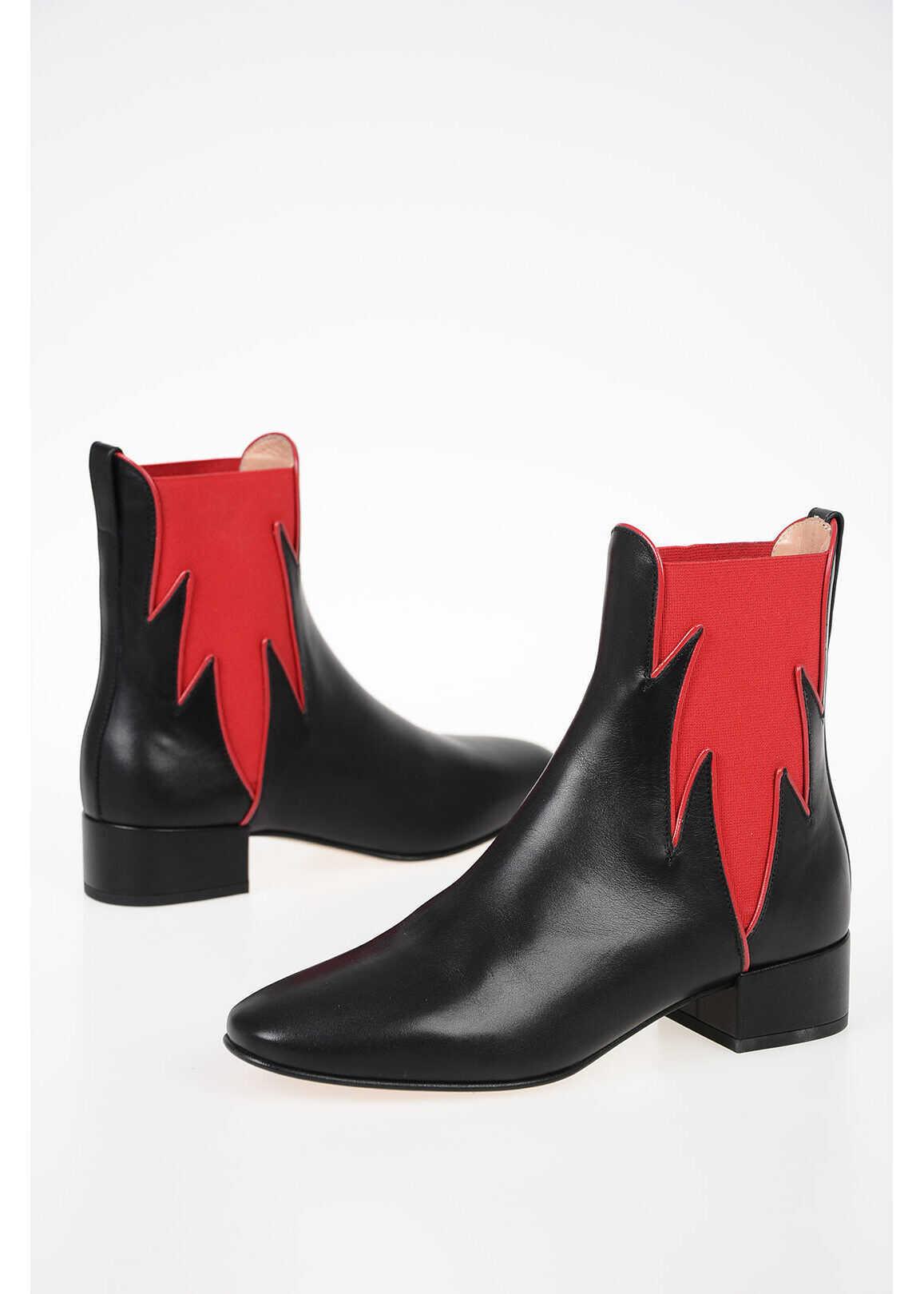 Francesco Russo 3,5cm Leather Boots BLACK