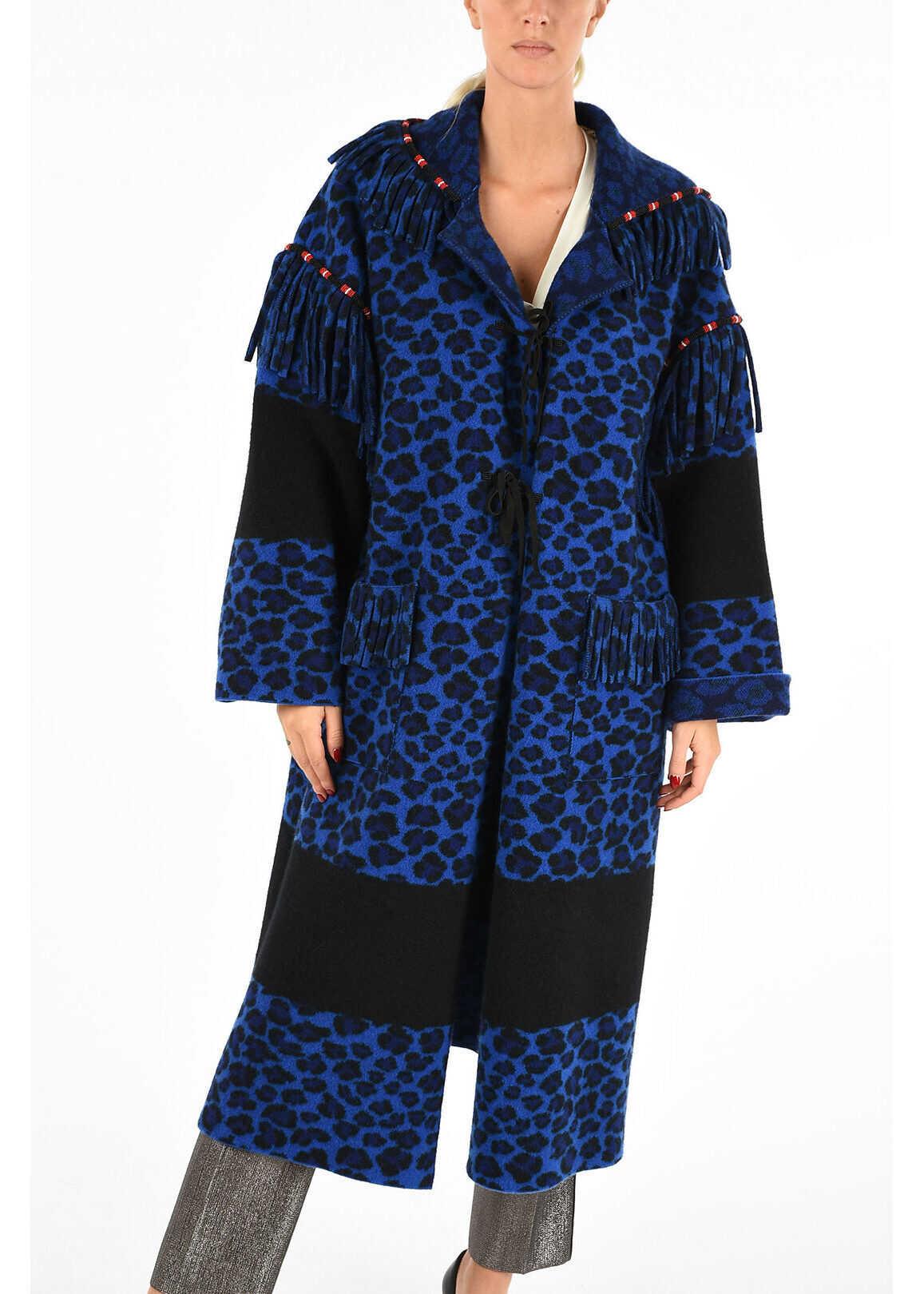 ALANUI Fringe Coat BLUE
