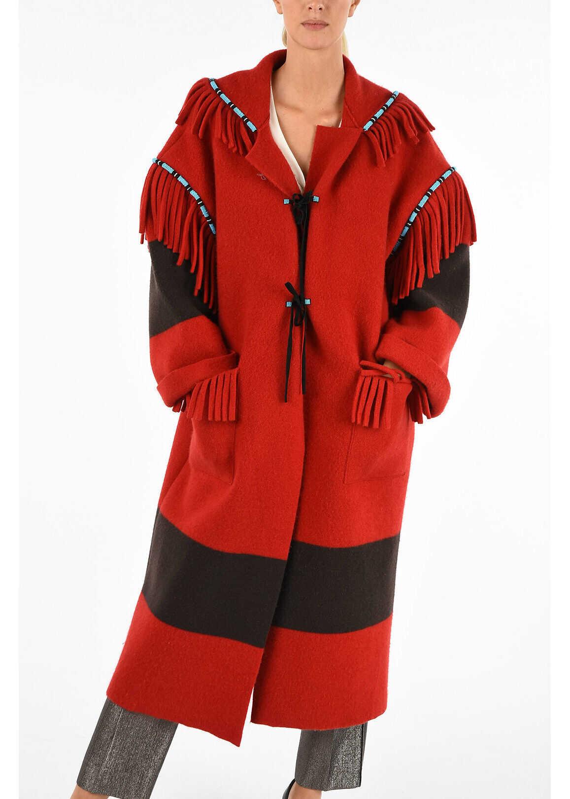 ALANUI Fringe Coat RED